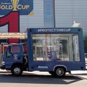glass truck advertising vehicle