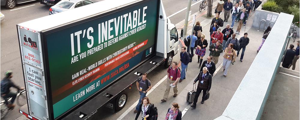 mobile billboard at event