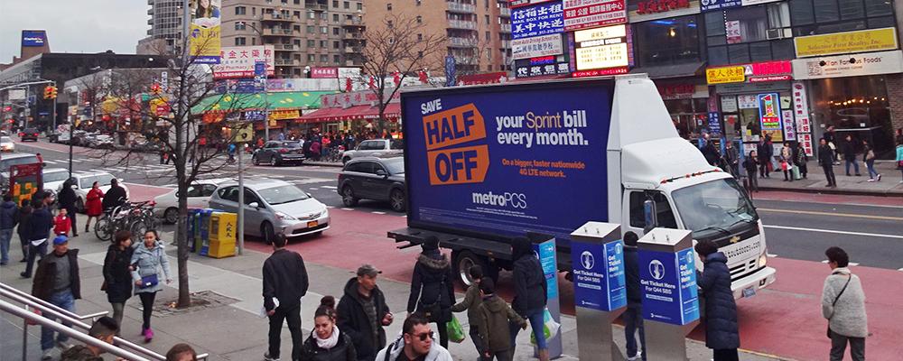 mobile billboard New York